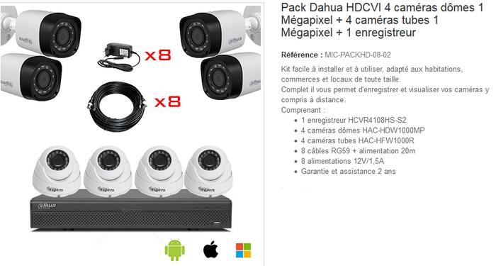 kit de videosurveillance pas cher